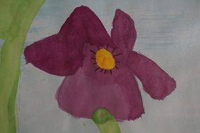 children drawing of a flower