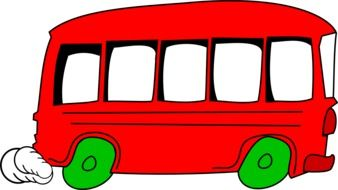 Red school bus clipart