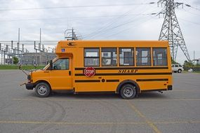 orange school bus