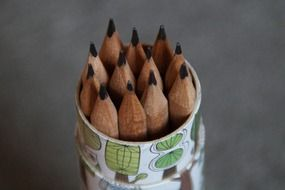 pencils in a pen holder