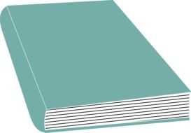 closed hardcover book, illustration