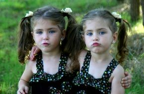 twin sisters love girls blue eyes