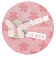 tag pink bow decorative label