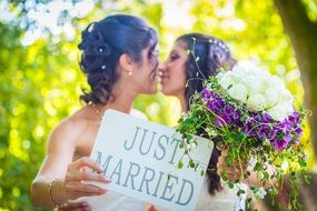 wedding of two lesbians