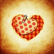 checkered hearts on a colored background