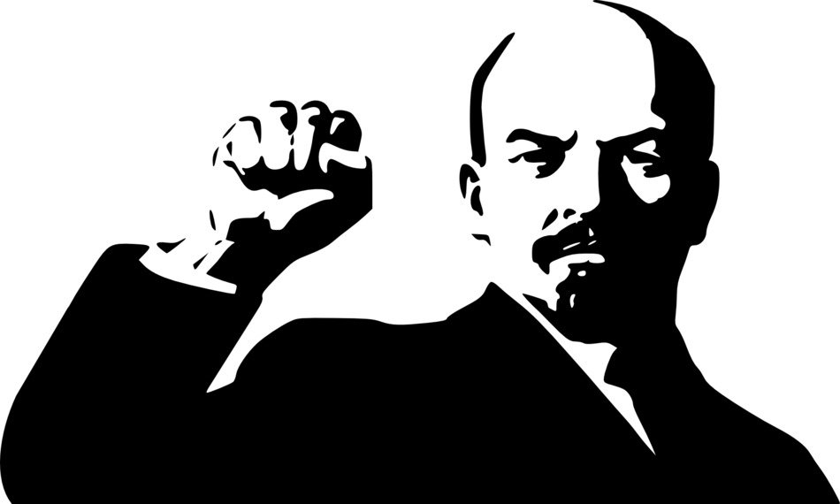graphic image of the leader Lenin