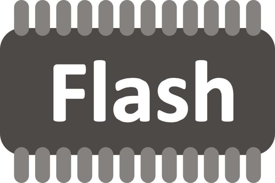 schematic image of a flash chip