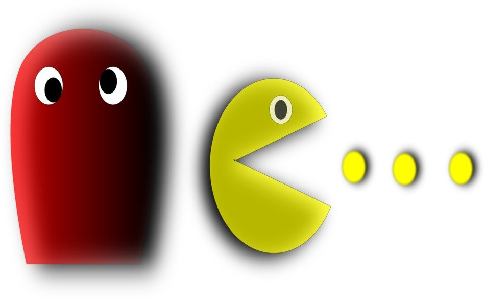 pacman in a computer game