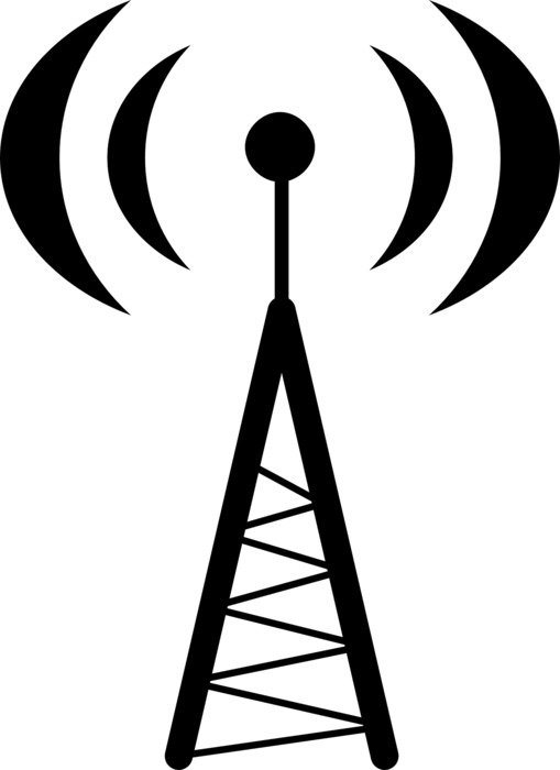 graphic image of the tower with antenna