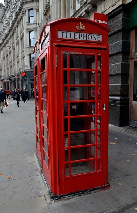 phone booth in london street