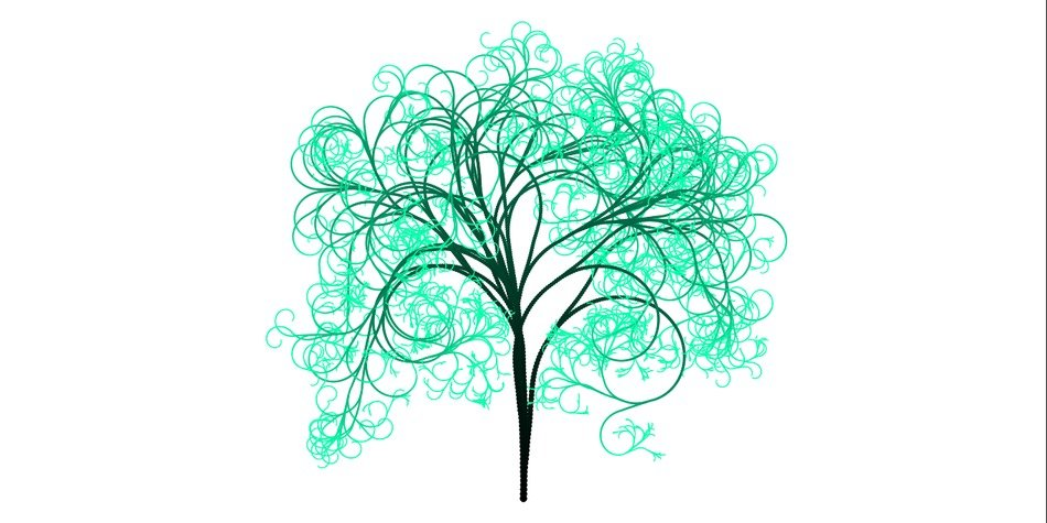 tree branches aesthetic tribe log green