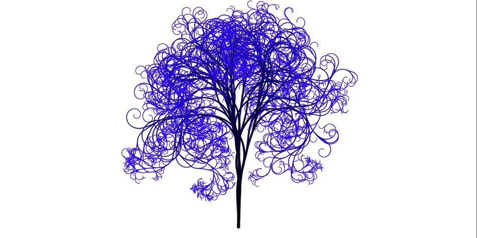 tree branches aesthetic tribe log blue artwork
