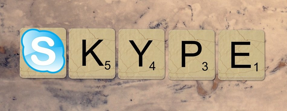 Skype sign of scrabble tiles