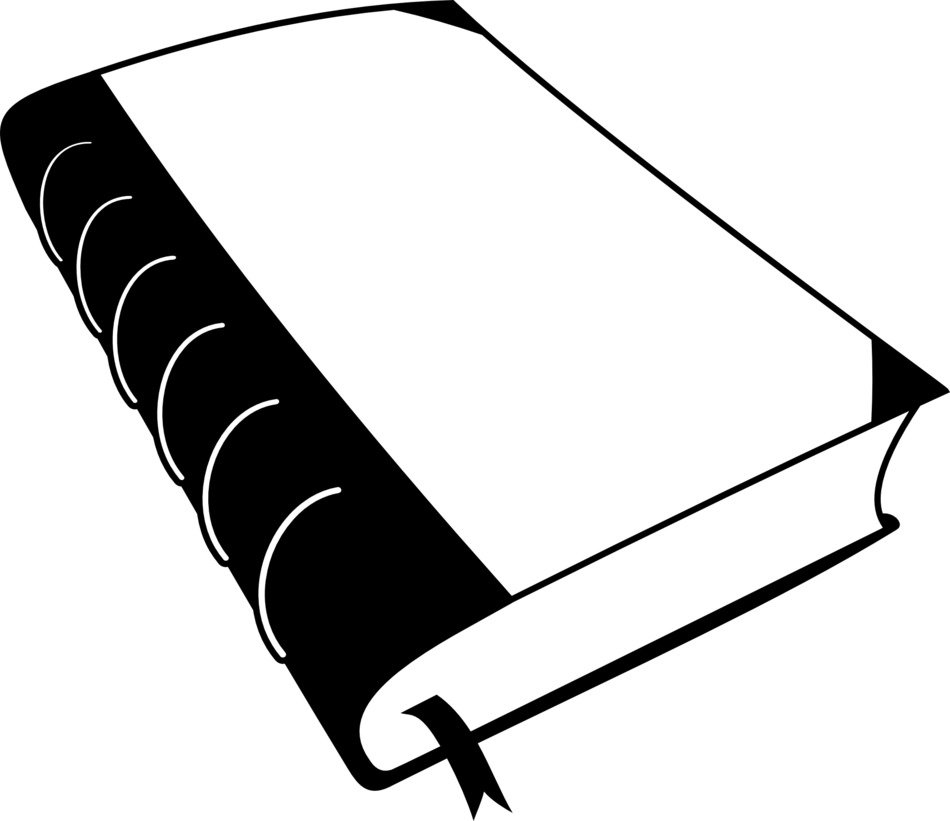 book with bookmark inside drawing