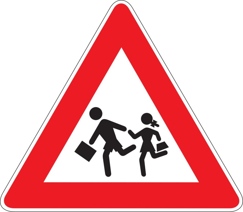 school road sign drawing