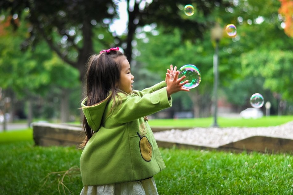 girl child bubbles childhood cute