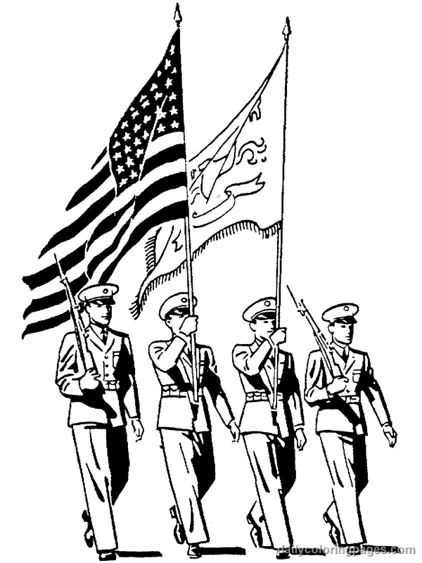 Coloring Page For Veterans Day Free Image Download