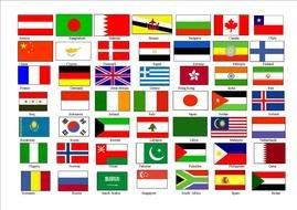 World Flags set drawing
