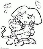 Dora Explorer Coloring Pages
