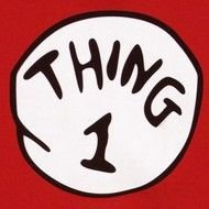 graphic relating to Thing 1 Logo Printable named Printable Point 1 Brand totally free picture