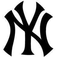 New York Yankees Logo Black