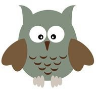 grey owl drawing