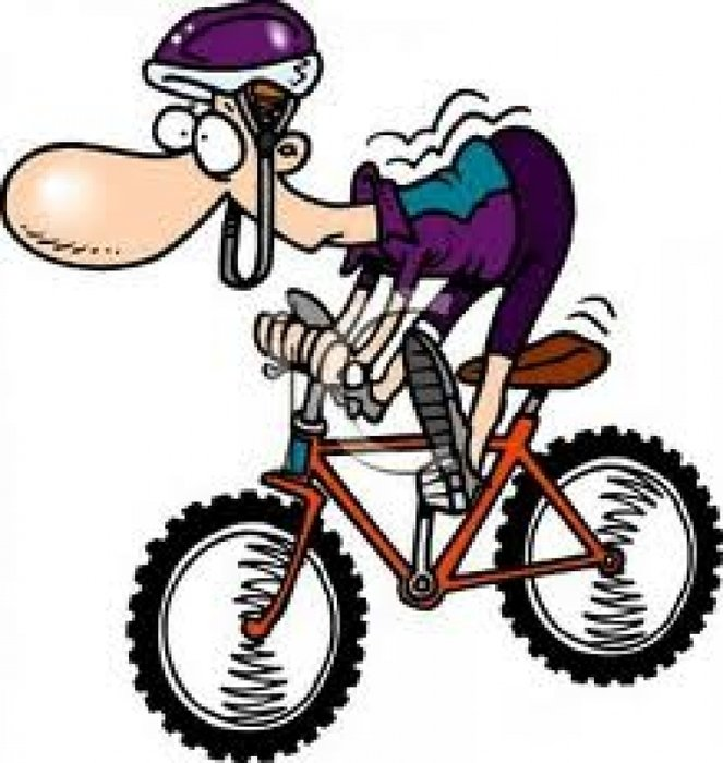 Clip art of Cartoon cycling man