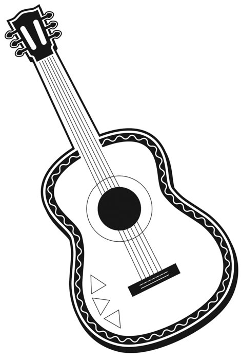 color guitar drawing