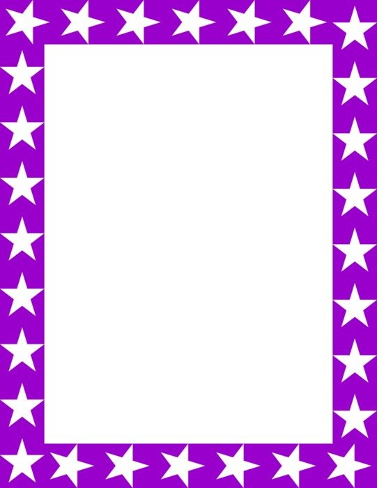 purple frame with white stars