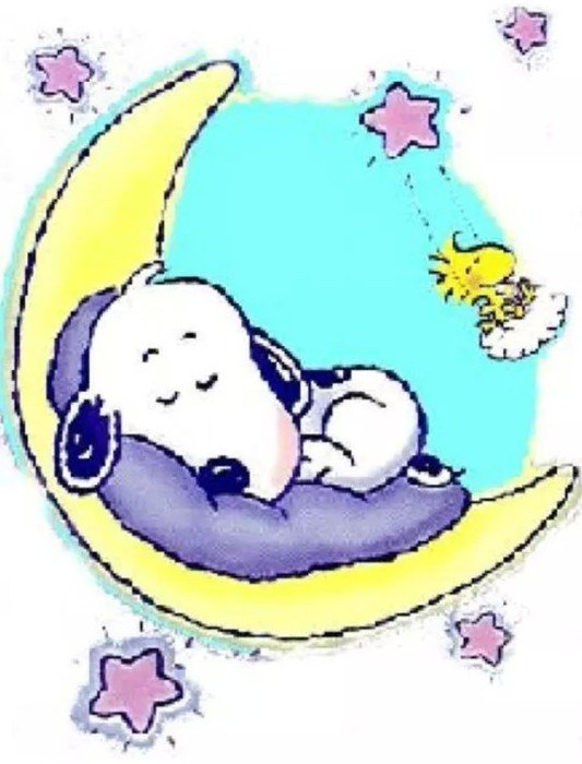 İllustration of Snoopy Good Night