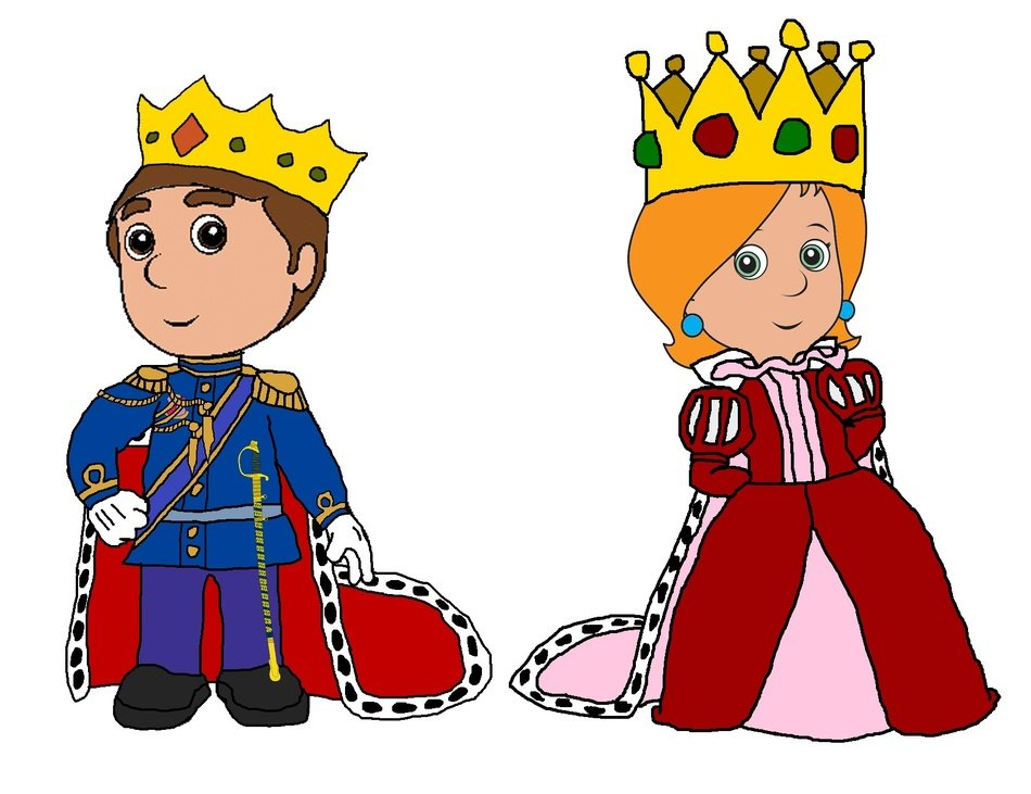 cute King And Queen drawing