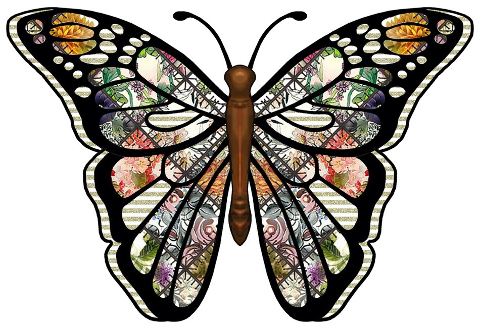 colorful Butterfly, Clip Art