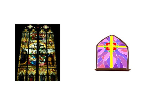 Stained Glass window for Church, drawing