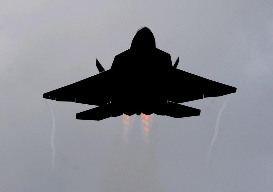 clipart of the F 22 Raptor aircraft