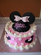 Minnie Mouse Birthday Cakes drawing