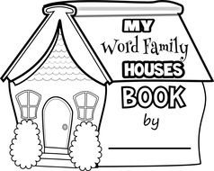 My Word Family Houses Book by as a graphic illustration