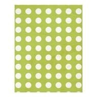 Green Polka Dot Scrapbook Paper