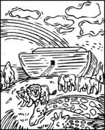coloring page of Noah's ark