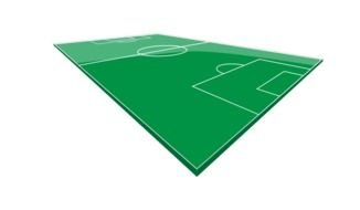 green soccer field as a graphic illustration
