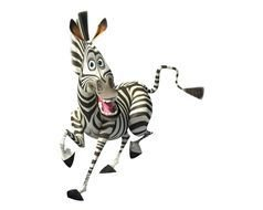 cartoon running zebra
