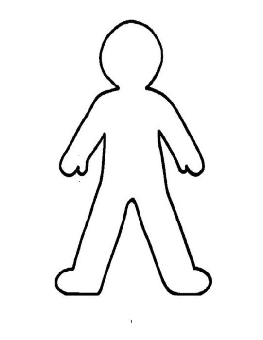 Person man Outline drawing