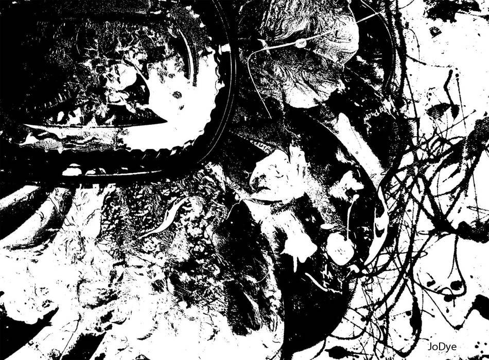 Black And White Abstract grunge background, artwork