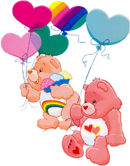 clipart of bears with balloons as a cartoon characters