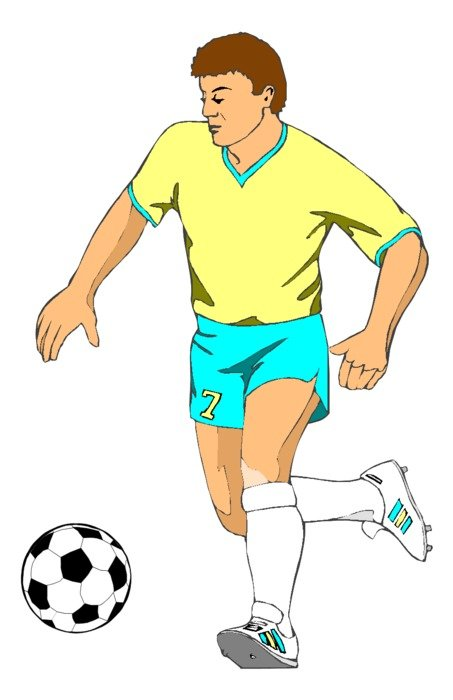 soccer player as a graphic illustration