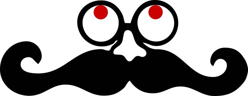 Mustache, nose and eyes, mask, Clip Art