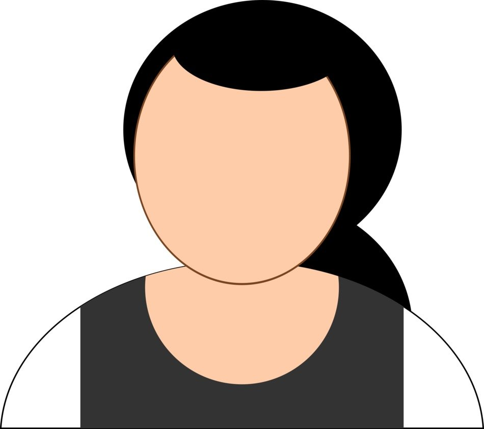 Woman with dress clipart