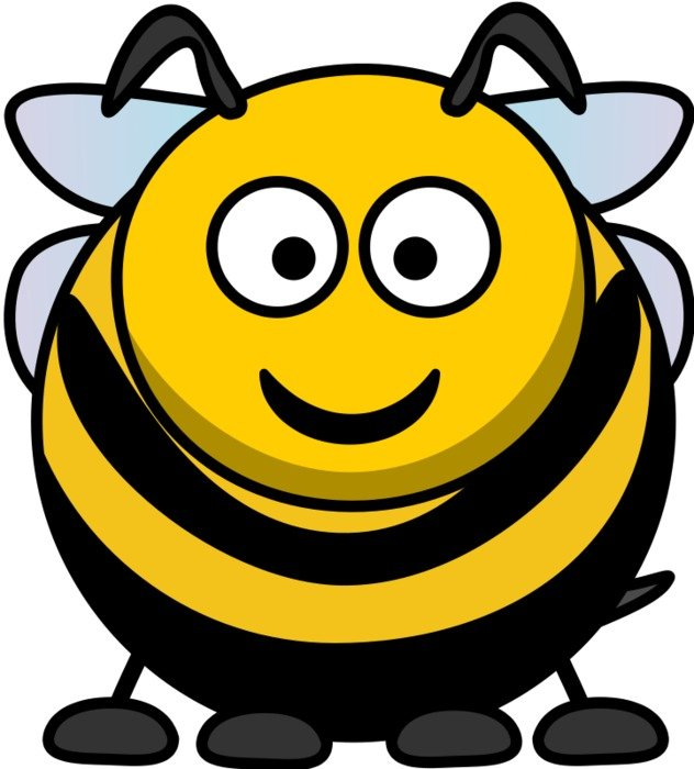 Bee as a cartoon character