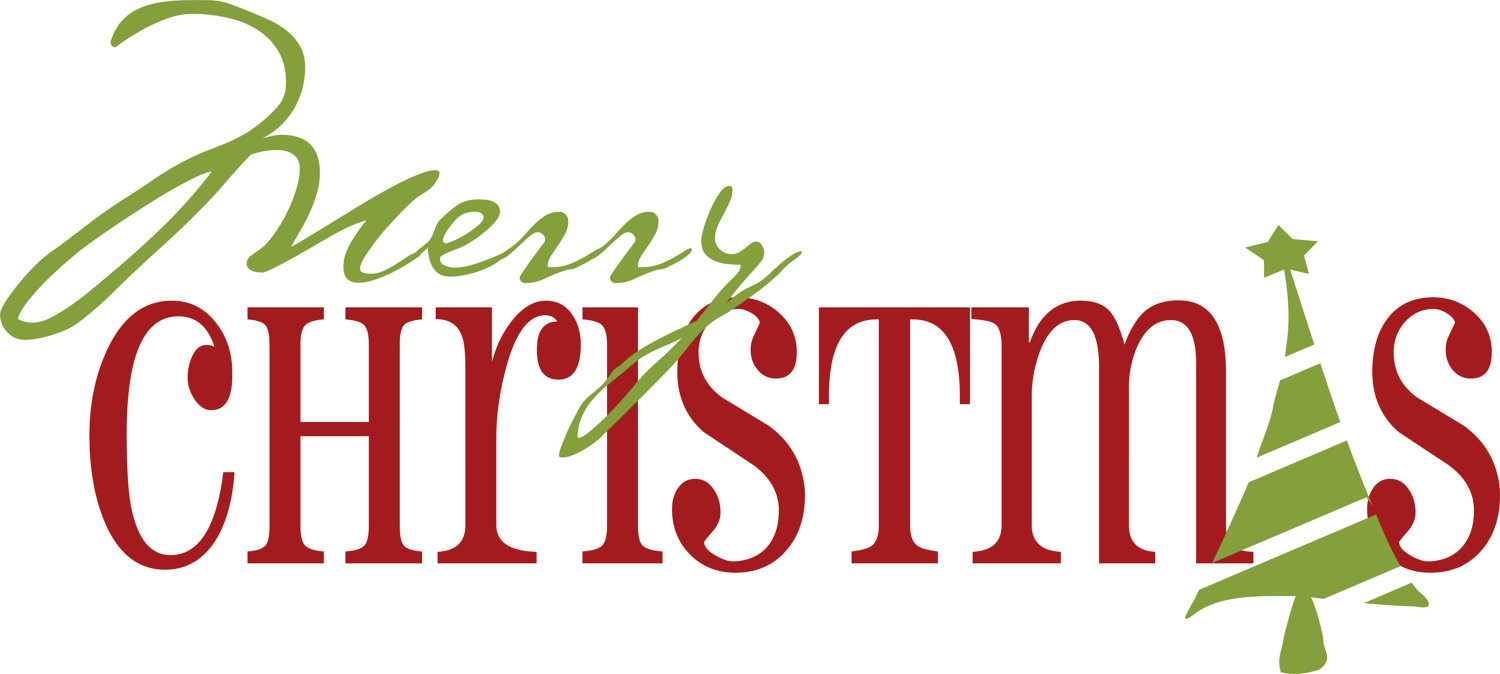 Clipart of Merry Christmas sign free image