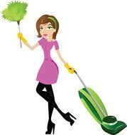 Clip art of Cleaning Lady