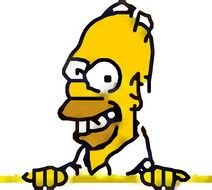 portrait of Homer Simpson